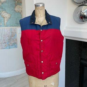 Vintage 1970s Sierra Designs vest red blue XL